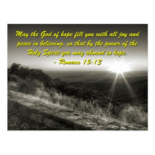Romans 15:13, Sunrise Postcard