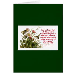 Romans 8:28 Bee Motif Cards