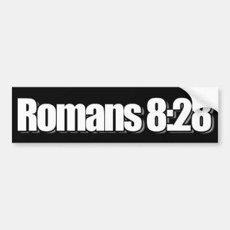 Romans 8:28 Christian Bumper Sticker