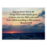 ROMANS 8:28 FAITH POSTER