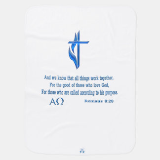 Romans 8:28 gifts stroller blanket