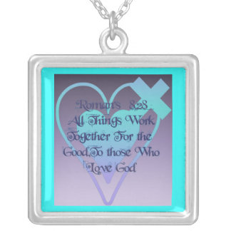 Romans 8:28 custom necklace