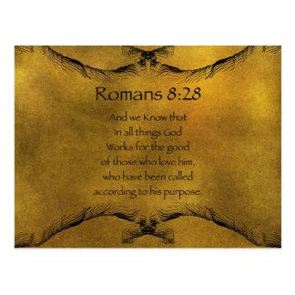Romans 8:28 postcard