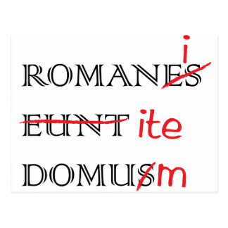Romans Go Home Postcard