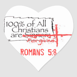 Romans Heart Heart Sticker