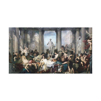 Romans in the Decadence of the Empire Stretched Canvas Print