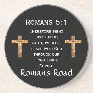 Romans Road, Romans 5:1 Drink Coasters