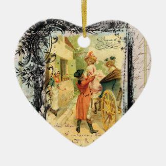 Romantic 18th Century Vintage Style Christmas Christmas Ornament