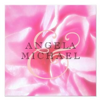 Romantic Abstract Rose Petals 13 Cm X 13 Cm Square Invitation Card