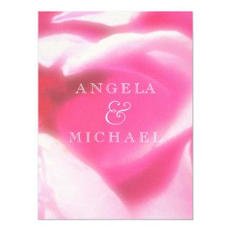 Romantic Abstract Rose Petals 17 Cm X 22 Cm Invitation Card