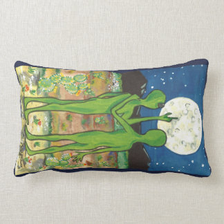 Romantic Aliens UFO Roswell Designer Pillow