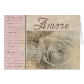 Romantic Amore Greeting Card