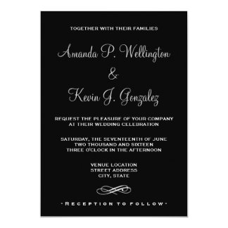 Romantic and Elegant Wedding Couple Holding Hands 13 Cm X 18 Cm Invitation Card