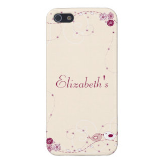 Romantic and Pretty Flowers, Swirls and Lovebirds iPhone 5/5S Covers