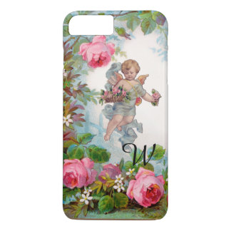 ROMANTIC ANGEL GATHERING PINK ROSES AND FLOWERS iPhone 7 PLUS CASE