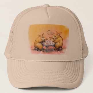 Romantic anteater trucker hat