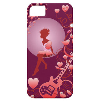 Romantic artistic vector iPhone 5 case with Girl