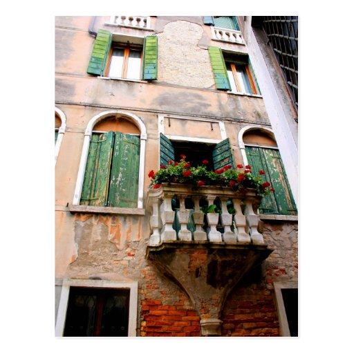 Romantic Balcony Perspective Post Card