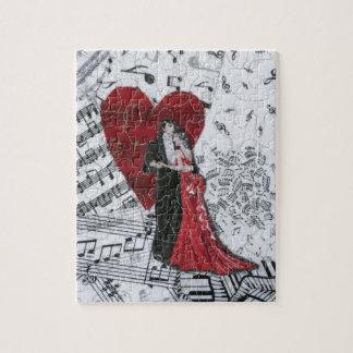 Romantic Ballroom Dancers Jigsaw Puzzle