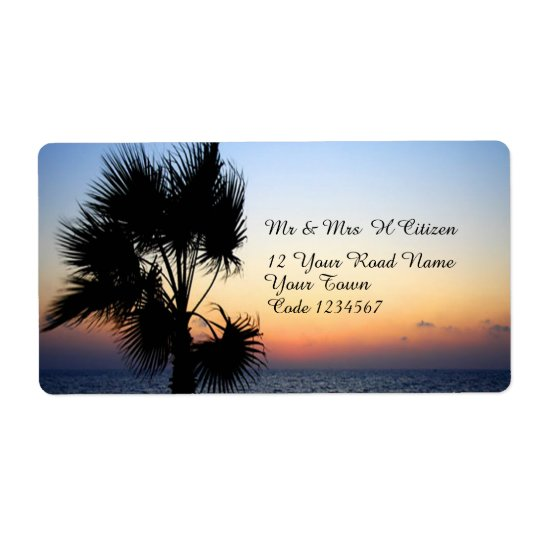 Romantic Beach Addressed Shipping Label