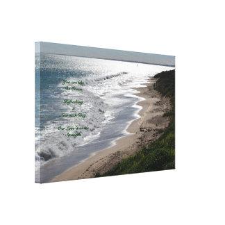 Romantic Beach Canvas Canvas Print