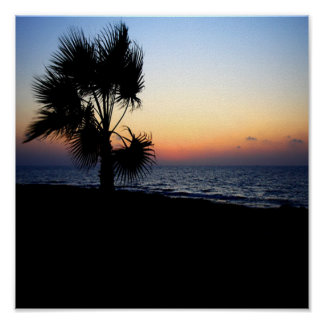 Romantic beach scene. poster
