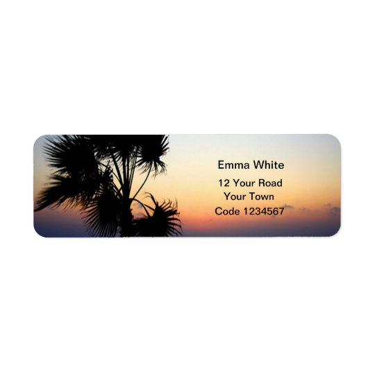 Romantic Beach Self Addressed Return Address Label