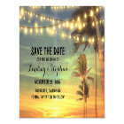 Romantic Beach Sunset Save the Date Magnetic Card