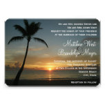 Romantic Beach Sunset Wedding Invitation