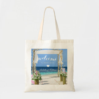 Romantic Beach Wedding Gate Welcome Favour Tote Bag