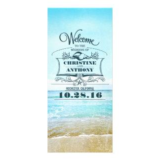 romantic beach wedding programs rack card