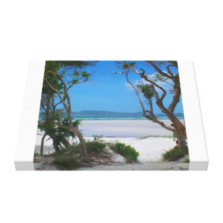 Romantic beaches stretched canvas prints