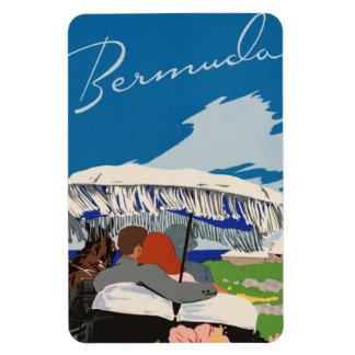 Romantic Bermuda retro vintage travel ad Magnet