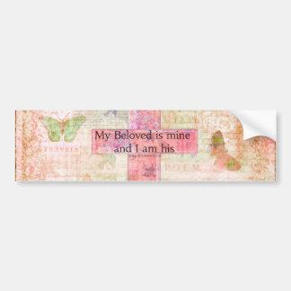 Romantic Bible verse Song of Solomon 2:16 Bumper Sticker