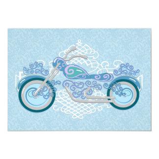 Romantic Biker Motorcycle Wedding Invitation