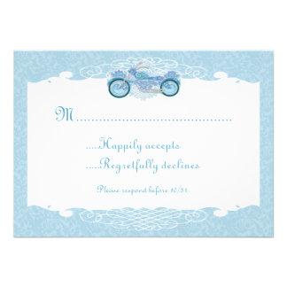 Romantic Biker Motorcycle Wedding Invite RSVP Card