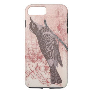 romantic bird drawing grunge artistic letter love iPhone 7 plus case