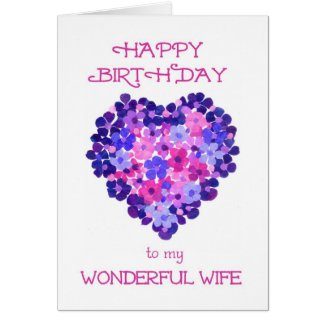 Romantic Birthday Card for a Wife