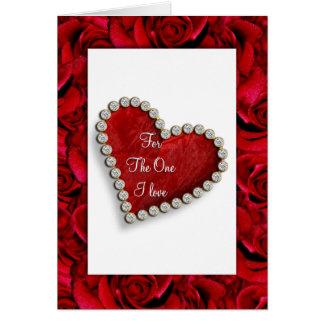 Romantic birthday valentine love poem card