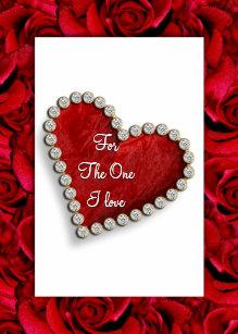 Romantic Birthday Valentine Love Poem Holiday Card