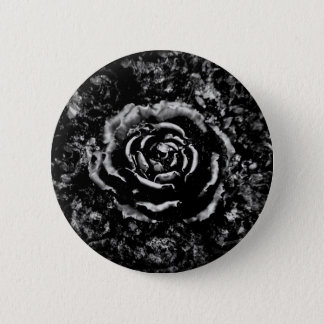 Romantic black cemetery rose Gothic button