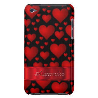 Romantic black heart pattern personalized Case-Mate iPod touch case
