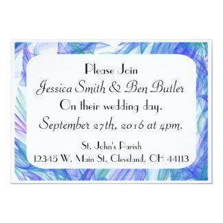 Romantic Blue & Aqua Watercolor Wedding Invitation