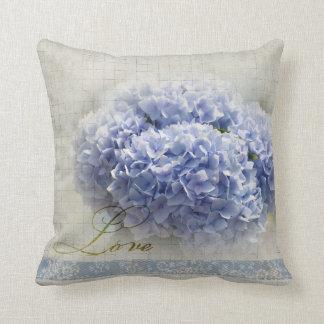 Romantic Blue Hydrangeas Cushion