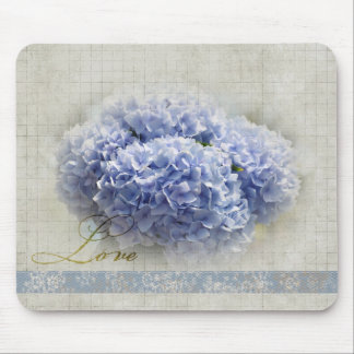 Romantic Blue Hydrangeas Mouse Mat
