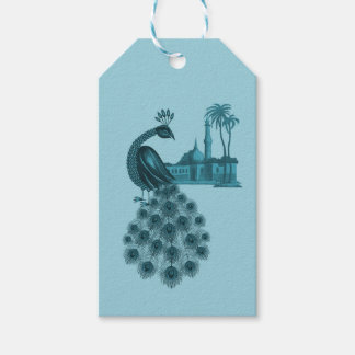 Romantic Blue Peacock Gift Tags