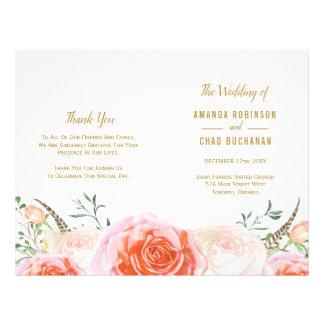 Romantic Boho Tribal  Wedding Programs Flyer