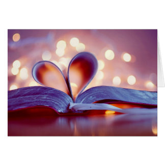 Romantic Book heart Greeting Card