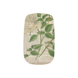 romantic botanical flower art girly white rose  Minx® nail art