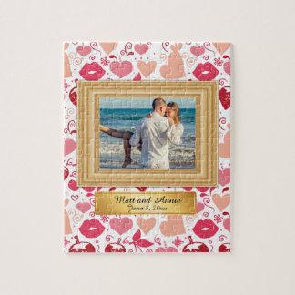 Romantic Boyfriend Girlfriend Couple Photo Puzzle